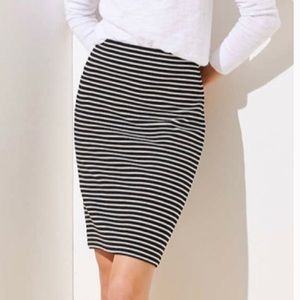 NEVER WORN Blue & White Stripe Pencil Skirt